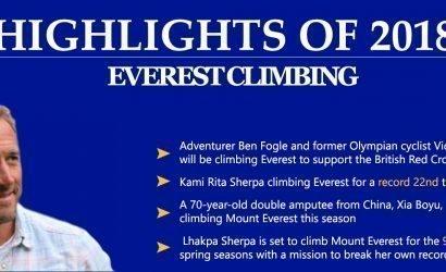 highlights of 2018: Everest climbing