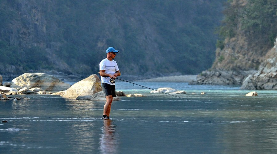 Best Places for Fishing in Nepal Balephi River Fishing
